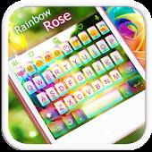 Rainbow Rose Emoji Keyboard