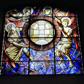 Stained Glass Window by Ian Popple - Buildings & Architecture Places of Worship ( colourful, church, place of worship, stained glass window, circle,  )