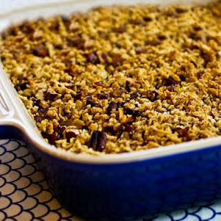 Low-Sugar Flourless Vegan Apple Crisp made with Olive Oil