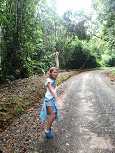Photo: Genevieve trying to swing on a vine