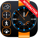 Orange Step Watch Face icon
