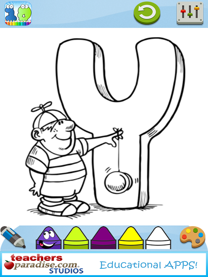 123s ABCs Kids Coloring Book - screenshot