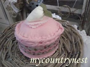 Photo: dolcetto di feltro decorativo alla fragola, decorativi
