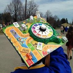 A graduation cap based on the game of life.