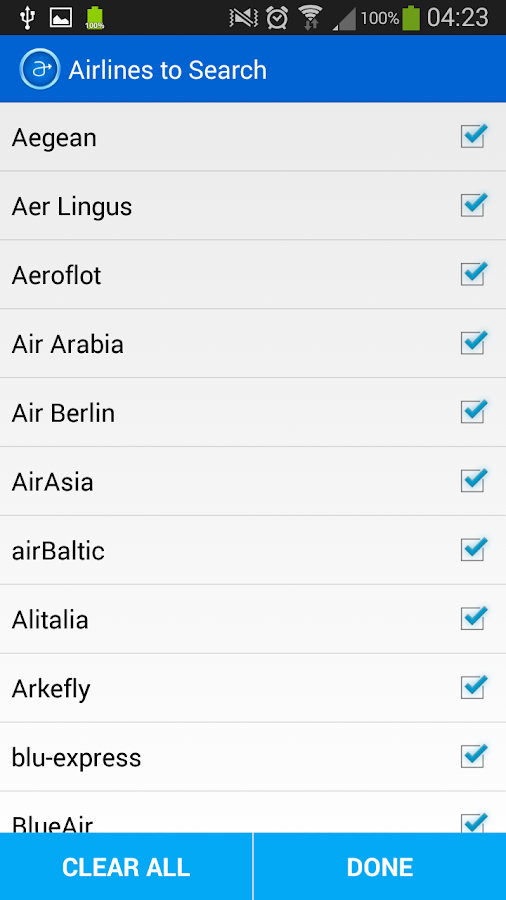 Azuon Flight Search- screenshot