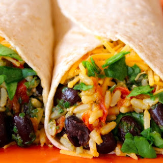 Spinach & Bean Burrito Wrap.
