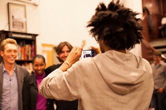 Photo: Taking photos with readers in NYC (photo by Spyr Media)