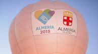 Detalle del logo de la capital gastronómica en el globo aerostático.