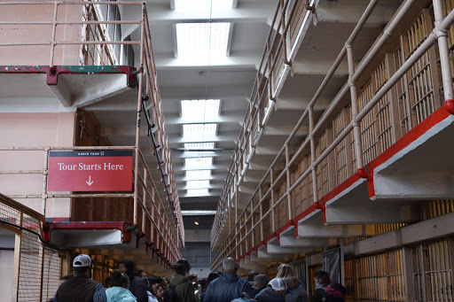 alcatraz-interior-1.jpg - The main cell block at Alcatraz, where the walking tours begin.