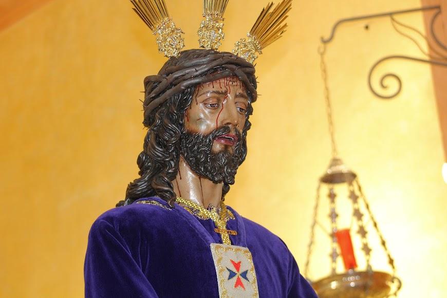 El Señor Cautivo de Medinaceli durante su Besapiés.