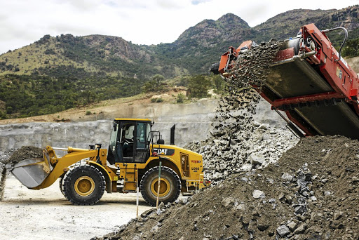 A Caterpillar excavator at the Northam Platinum Booysendal mine in Mpumalanga. Picture: BLOOMBERG