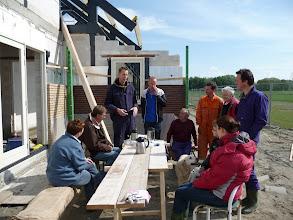 Photo: ontvangst met koffie en boer Ronald legt uit wat er allemaal gedaan kan worden