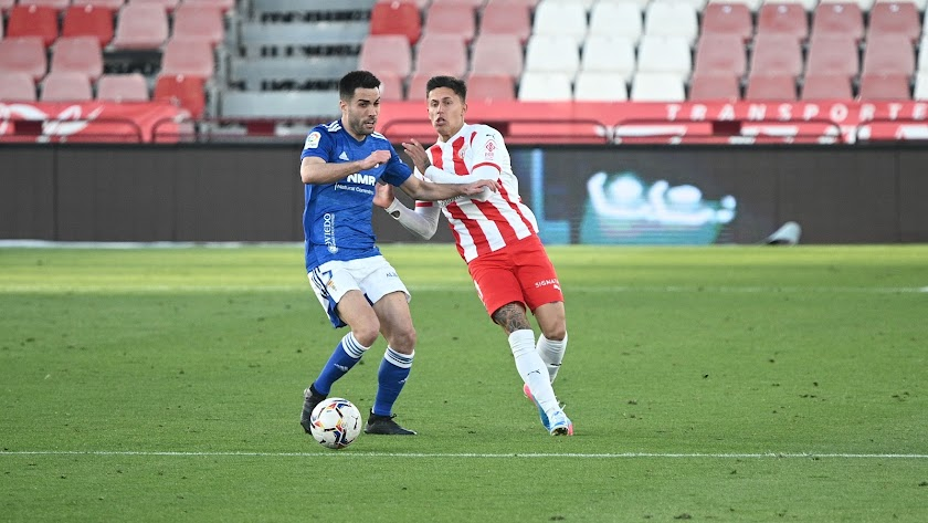 El uruguayo salió en el minuto 87 ante el Oviedo.
