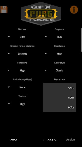Download GFX Tools (PUBG 60FPS) APK latest version Game by