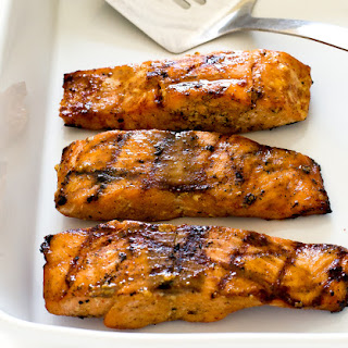 Grilled Maple Dijon Salmon.