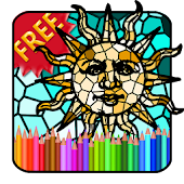 Adult Coloring Book Mosaic