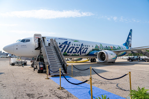 Take a look at the new Alaska Airlines 737 MAX that Boeing is using as a flying laboratory