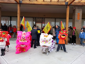 Photo: Chinese lion dance and Chinese drum