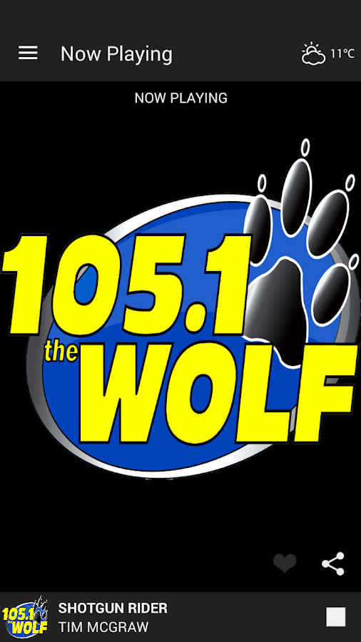 105.1 The Wolf Mobile App- screenshot