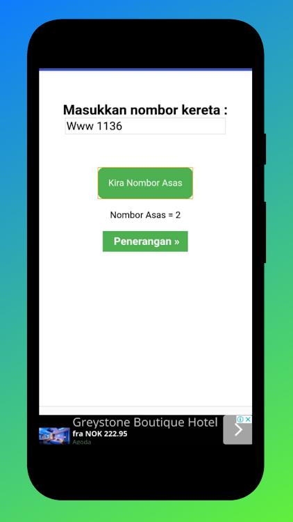 Numerologi Nombor Kereta Android Aplikace Appagg