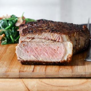 Garlic Rib-Eye Steak.