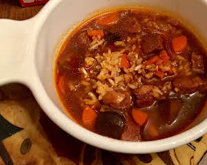 Beef & Brown Rice Soup