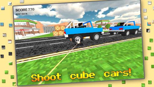 Cube Sniper: Traffic Shooter