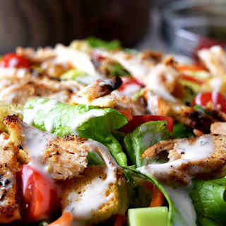 Healthy Beer Can Grilled Chicken Salad.