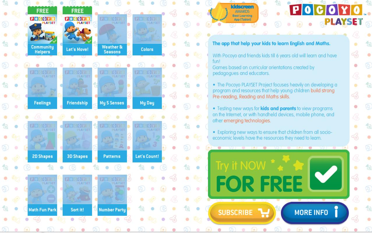 pocoyo playset learning games android apps on google play