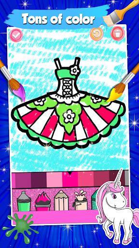 Glitter Dresses Coloring Book For Kids screenshot 6
