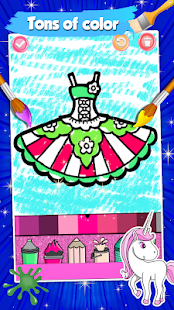 Glitter Dresses Coloring Book For Kids Apk Download For Android