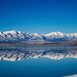Perfect reflection  by Shanna L Christensen - Landscapes Waterscapes ( mountain, reflection, snow, crystal, clear, winter, ice, lake )