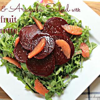 Beet and Arugula Salad with Grapefruit Vinaigrette