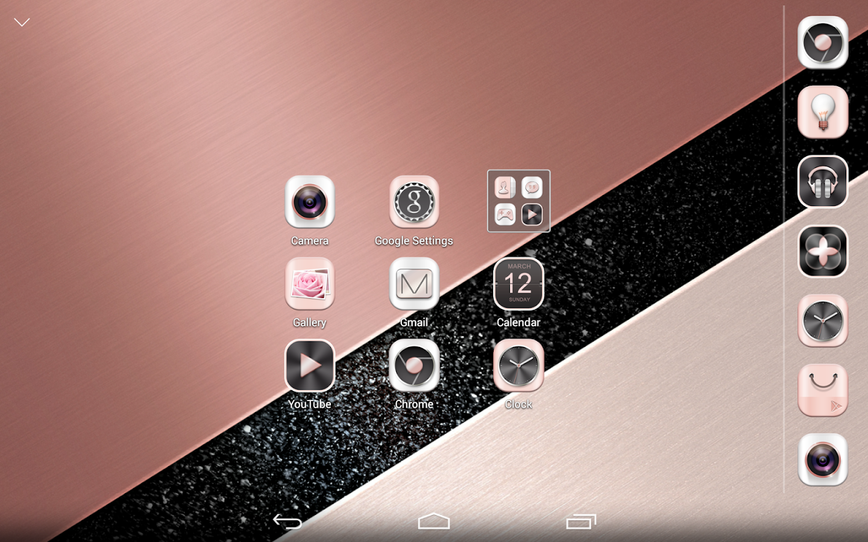Beautiful themes for gmail - Rose Gold Atom Theme Screenshot