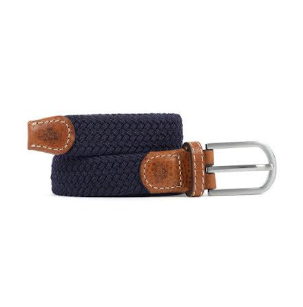 BillyBelt Braid belt navy blue thin
