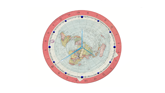 Flat earth map clock aplicaciones android en google play flat earth map clock miniatura de captura de pantalla gumiabroncs Images