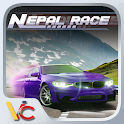 Racing in mountain icon