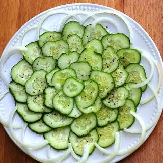Saint Martha and Cucumber Salad