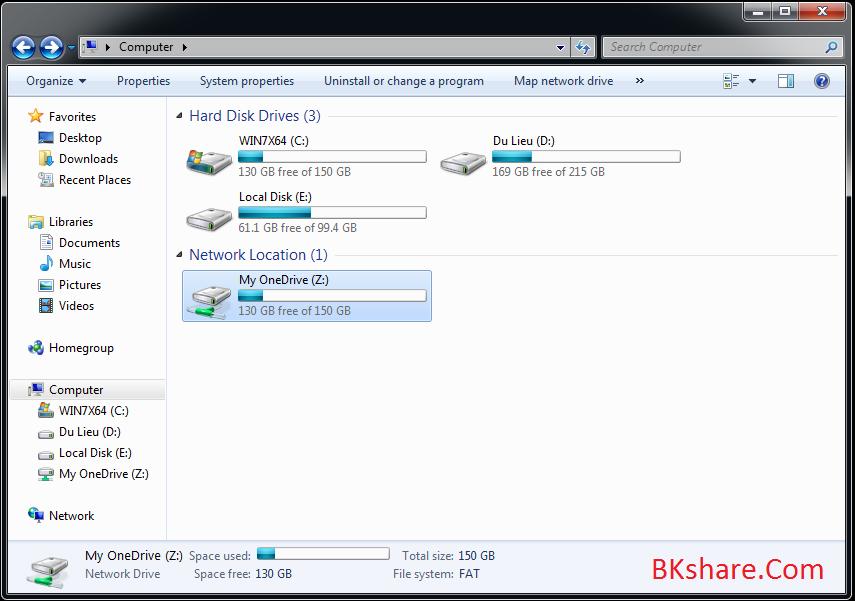 Sử dụng OneDrive làm ổ cứng trên máy tính Windows