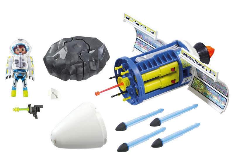 Contenido real de Playmobil® 9490 Satélite con Láser para Meteoritos