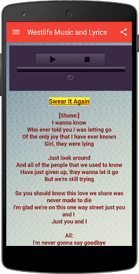 Westlife Music with Lyrics - screenshot