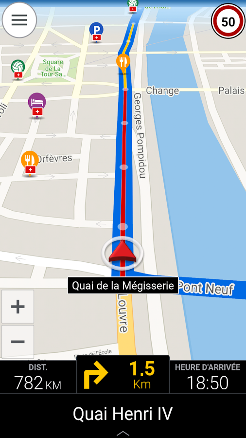 CoPilot France GPS Navigation – Capture d'écran