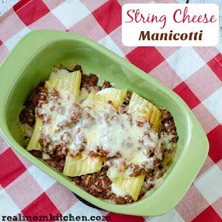 String Cheese Manicotti
