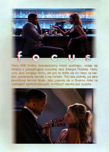 Tył ulotki filmu 'Focus'