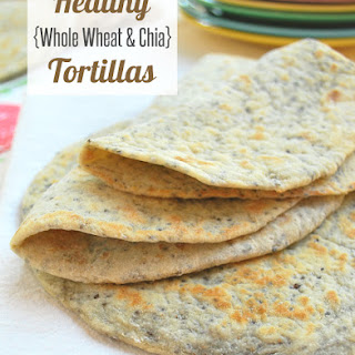 Healthy Whole Wheat and Chia Tortillas.
