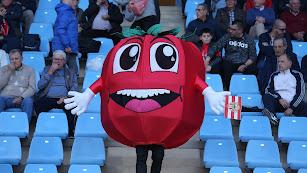 Esta debe de ser la mascota oficial del Almería y en partidos como el de hoy...