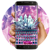 Purple Crystal Keyboard