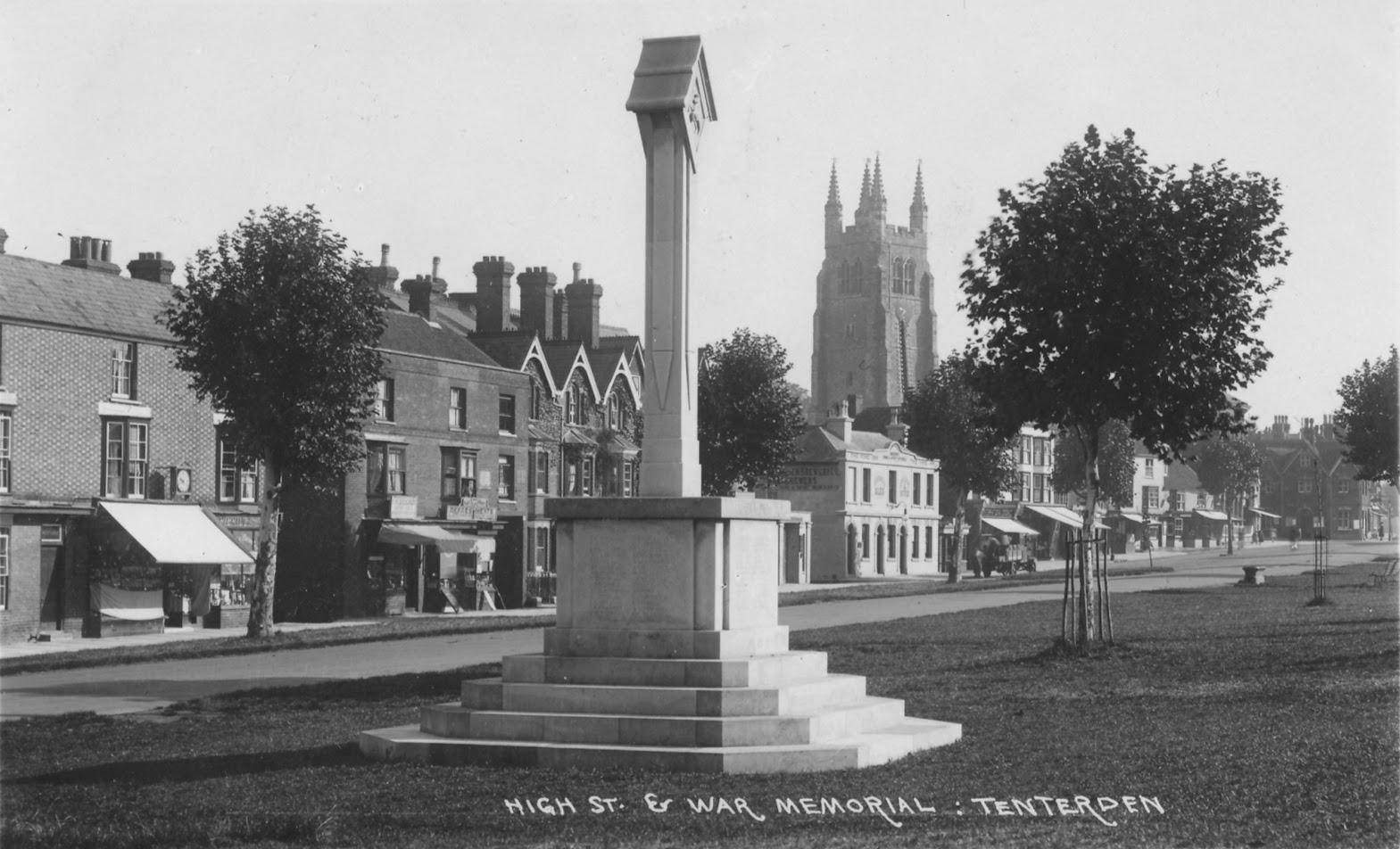 Tenterden Archive photos Lower High Street – War Memorial