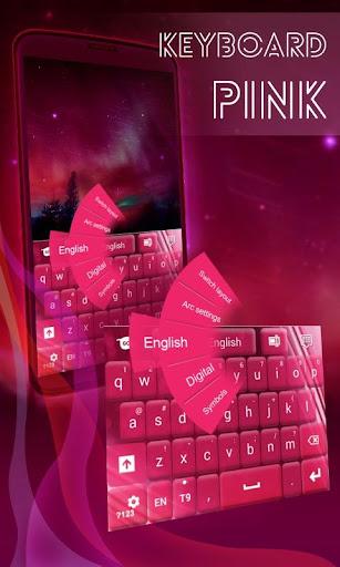 ピンクのキーボードのGOテーマファンシー