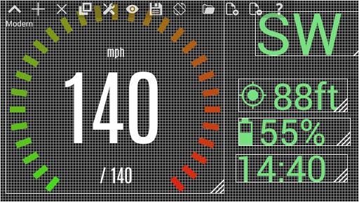 自定義車速表